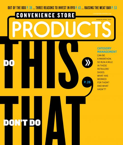 March April 2016 cover convenience store products magazine