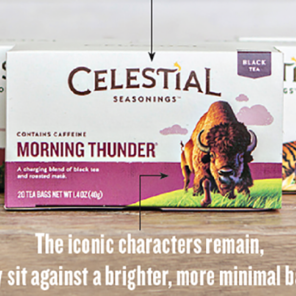 celestial tea new packaging