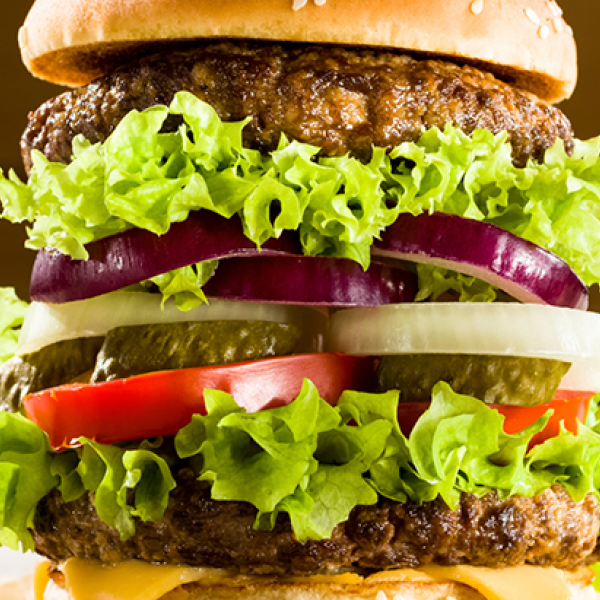 two trending product categories: burgers and beverages