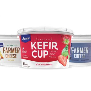 Lifeway Foods kefir cups and farmer cheese