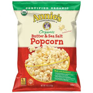 Annie's Organic Butter & Sea Salt and Organic White Cheddar Popcorn
