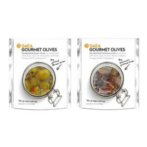 Gaea Gourmet Olives and Organic Olive Snack Packs