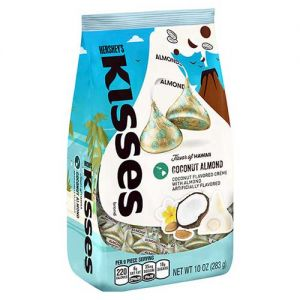 Hershey's Kisses Coconut Almond flavored candies