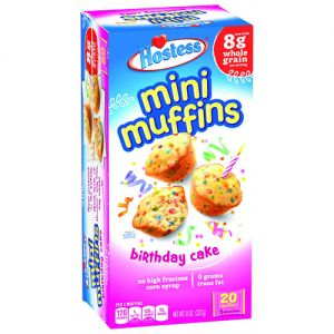Hostess Chocolate Chip, Blueberry and Birthday Cake Mini Muffins
