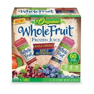 J&J Snack Organic Whole Fruit Frozen Juice
