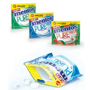 Mentos Pure Fresh Gum Wallet Packs with Velcro Press-Lok closure