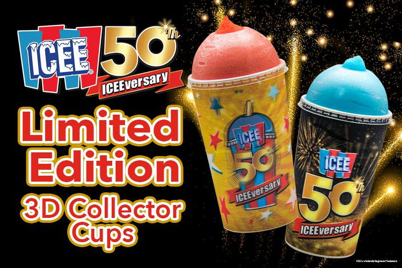 Icee 50th Anniversary Collector Cups