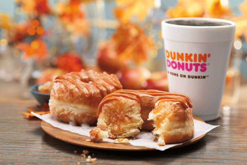 Dunkin' Donuts Adds Caramel Apple Croissant Donut