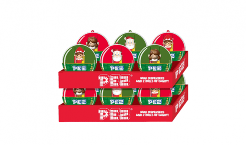 Pez Candy's Christmas Ornament with Mini Dispensers
