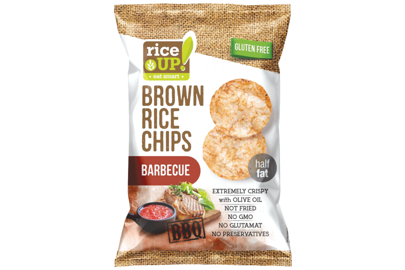 Rice Up's line of gluten-free Brown Rice Chips