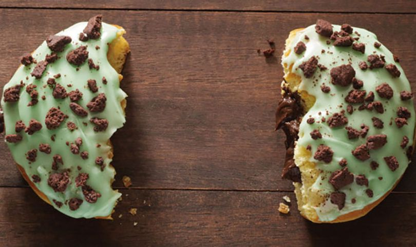 mint brownie donut