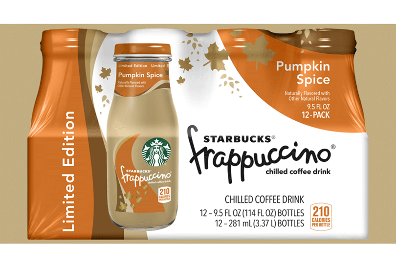 Starbucks Pumpkin Spice Frappuccino Chilled Beverage
