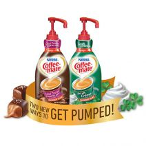 Coffee-mate Salted Caramel Chocolate and Irish Creme Liquid Creamer Pump Bottles