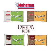 Mahatma and Carolina organic white and brown rice
