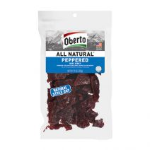 oberto clear bag peppered jerky