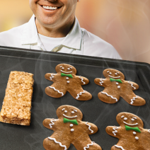 gingerbread chewy granola bars