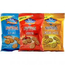 Nut-Thins Sea Salt, Cheddar Cheese and Sriracha flavors