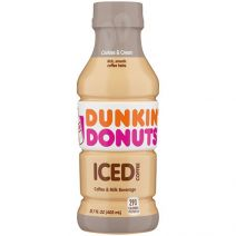 dunkin donuts cookie and cream iced coffee