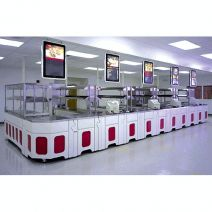 Galley serving lines