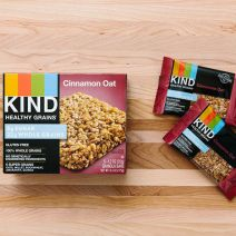 Kind Cinnamon Oat and Double Dark Chocolate Healthy Grains bars