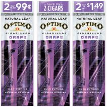 Optimo Natural Leaf Grape Cigarillos