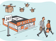 convenience store drone delivery