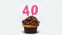 40th birthday cupcake