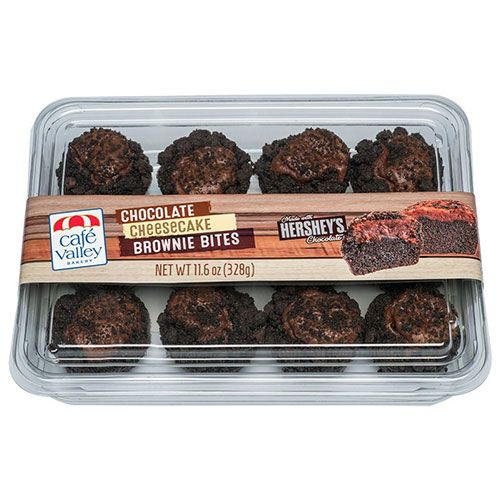 Cafe Valley chocolate cheesecake brownie bites