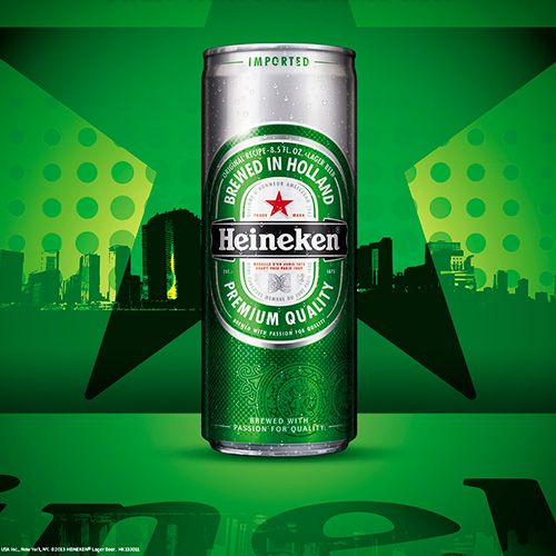 heineken slim beer can