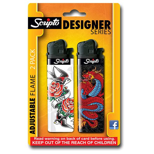 tattoo designer series scripto lighter