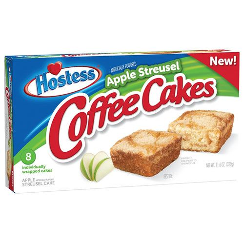 Hostess Cinnamon Sugar Crunch Donettes and Apple Streusel Coffee Cakes