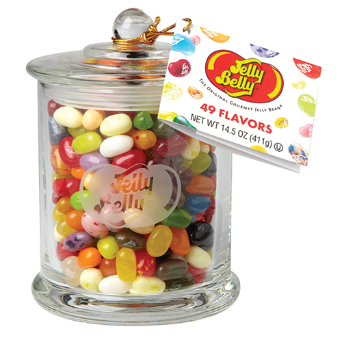 jelly belly glass jar