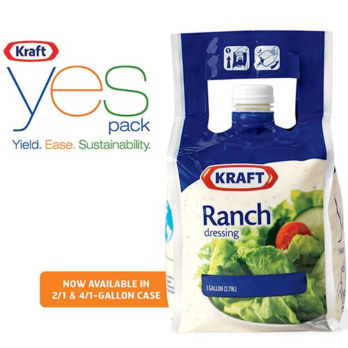kraft yes pack salad dressing
