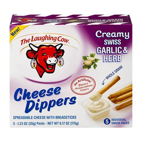 Creamy Swiss Garlic & Herb and Creamy White Cheddar Cheese Dippers