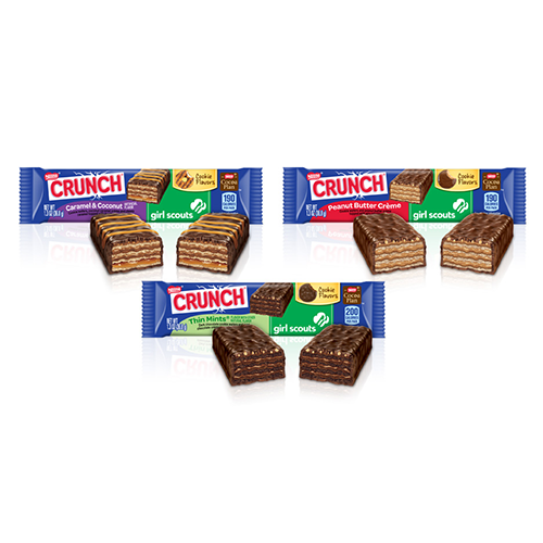 nestle crunch girl scout candy bars