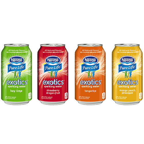 nestle pure life sparkling water exotics
