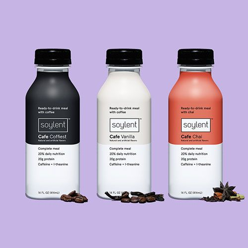 Soylent Cafe Vanilla and Cafe Chai
