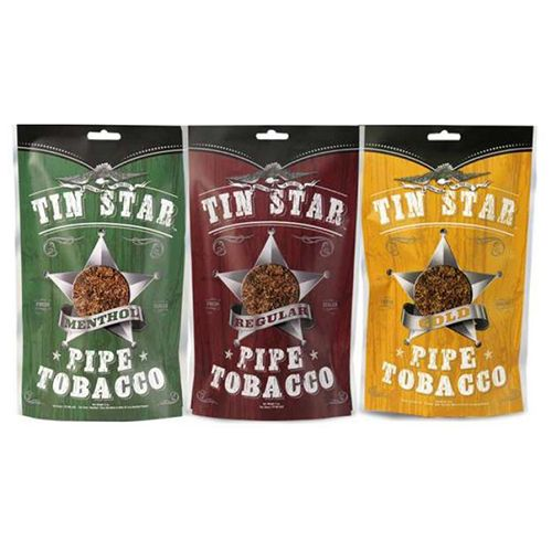 tin star pipe tobacco pouch