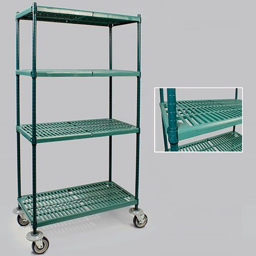vented polymer shelving