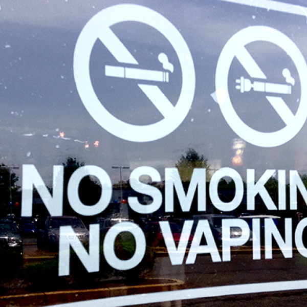 no vaping sign