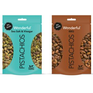 Wonderful Pistachios BBQ and Sea Salt & Vinegar No Shells