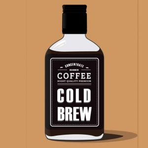 Cold brew coffee graphic
