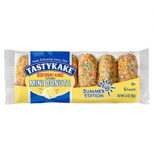 flowerfoods tastykake birthdaykake mini donuts