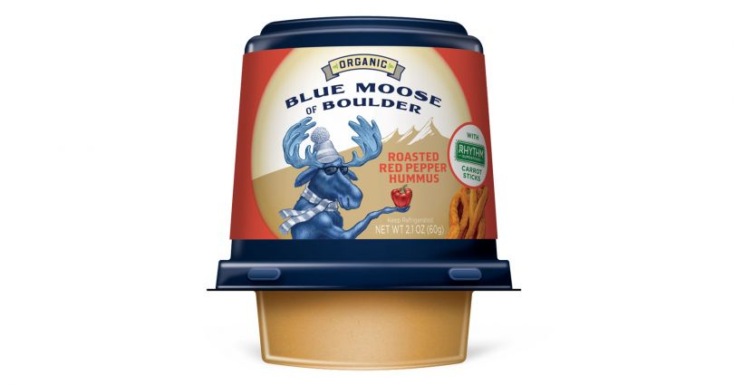 blue moose organic roasted red pepper hummus on the go