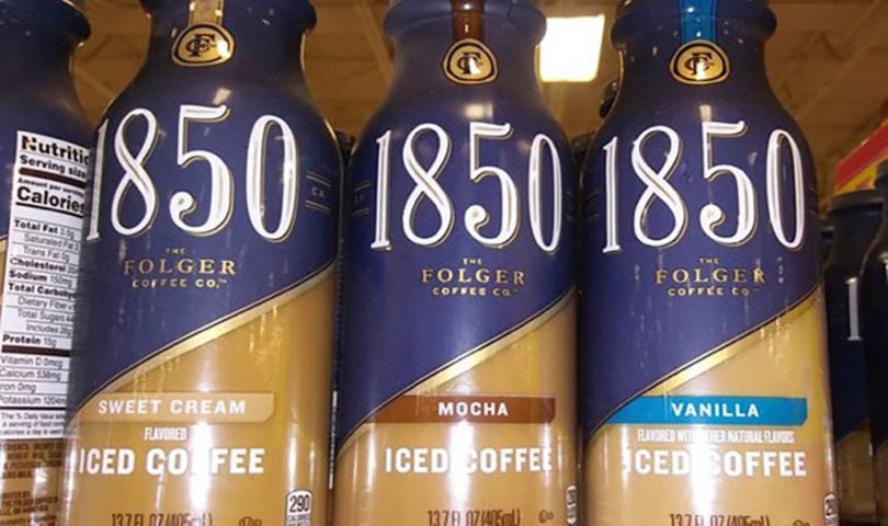 folgers 1850 iced coffee sweet cream mocha and vanilla