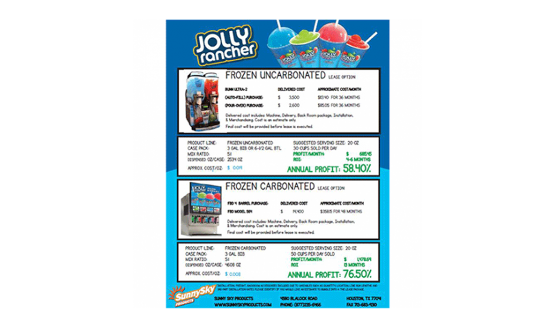 Jolly Rancher Frozen Beverage Lease Program