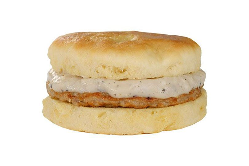 landmark day-n-night bites sausage and gravy biscuit