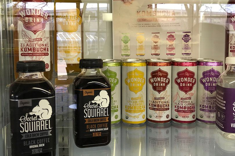 select squirrel cold brew coffee and wonder drink kombucha