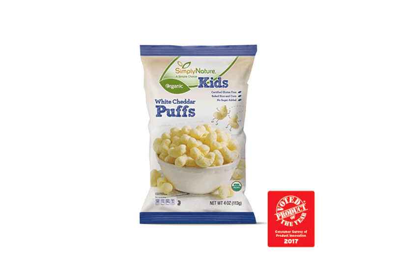 SimplyNature Organic White Cheddar Puffs