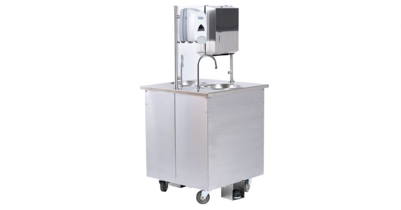 double sided hand washing station